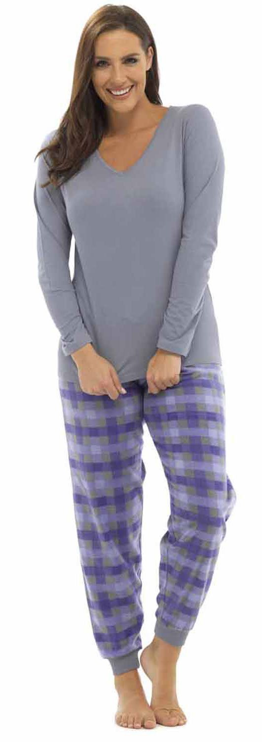 Tom Franks Ladies Checked Print Winter Long Pyjama Pajama Sleepwear LPYJ-LN320