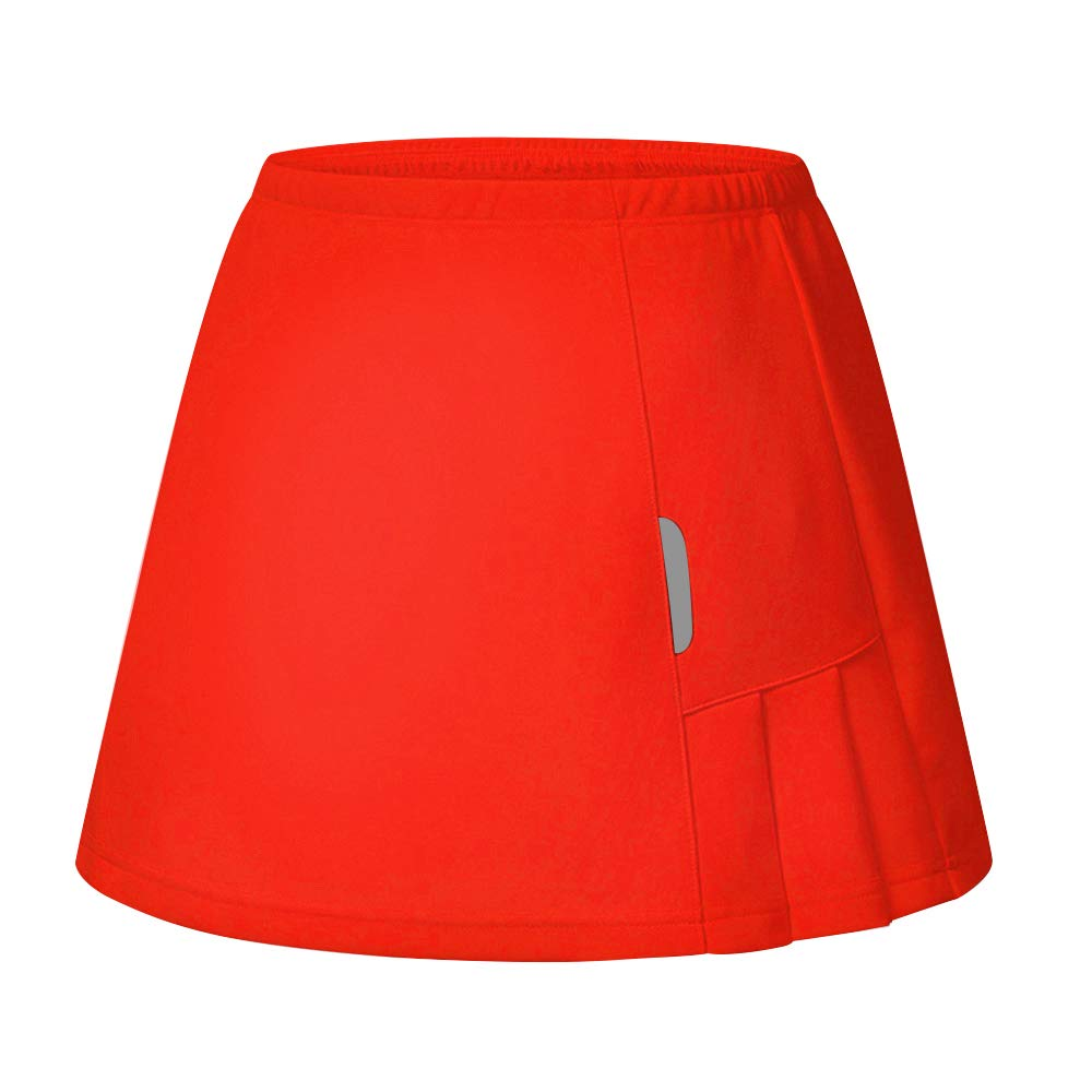 RainbowTree Women's Active Performance Skort Casual Pleated Skirt for Running Tennis Golf Workout Red by RainbowTree