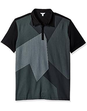 Calvin Klein Men's Short Sleeve Color Blocked Polo Shirt