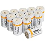 AmazonBasics Baterías alcalinas D Cell, paquete de 12