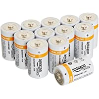 12-Pk AmazonBasics D Cell Everyday Alkaline Batteries