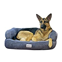 Simmons Beautyrest Colossal Rest Large Silver Orthopedic Memory Foam Dog Bed
