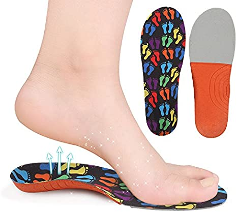EVA Arch Support Insoles Orthotic Orthopedic Shoe Inserts For Kids Children Y