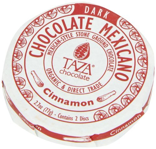 Taza Chocolate - Mexicano Disc 50% Dark Mexican-Style Stone Ground Chocolate Cinnamon - 2 Disc(s).pack of (Traditional Style Chocolate)
