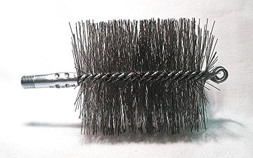 Flue Brush, Dia 4, 1/4 MNPT, Length 8 by Tough Guy