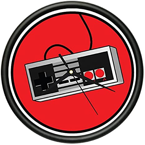 RETRO GAMER Wall Clock cool geek nerd old school controller console gift