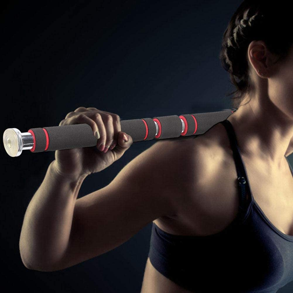 Tbest Pull Up Bar for Doorway Multi Chin Up Bar with Comfort Grips Upper Body Workout Bar for Upper Body Exercise
