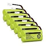 iMah Ryme B2-1 BT-800 BT-8001 BT-8300 BT-1011 BT-1018 BT-1022 BT184342 BT18433 Battery for at&T CL80109 EL51109 SL82000 TL90078 Vtech CS6209 CS6219 CS6229 DS6121 DS6221 DS6221 (Pack of 6)