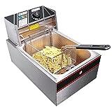 2500W 6 Liter Electric Countertop Restaurant Healthy Deep Fryer...