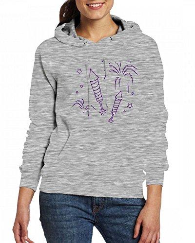 4th July or New Year fireworks explosionsrockets Womens Hoodie Fleece Custom Sweartshirts