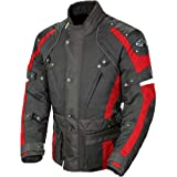Joe Rocket Ballistic Revolution Men's Textile Sports Bike Motorcycle Jacket - Black/Red / 2X-Large