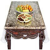Venice Collections Super Clear Extra Heavy Duty, Durable 100% Vinyl Tablecloth Protector & Table Cover Size 54 X 72 Inches Oblong