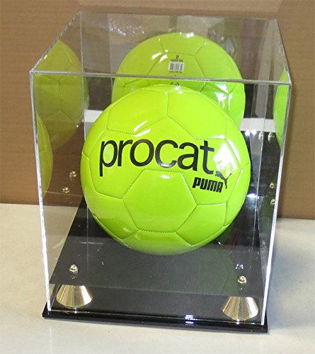 Pro Uv Full Size Basketball Display Case Holder Stand With Mirror Back