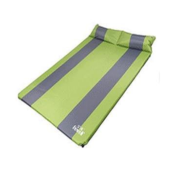 Colchoneta para acampar, almohada doble para exteriores con ...