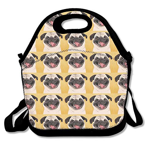 Smiles Lunch - Funny Pug Smile Wallpaper Lunch Bag