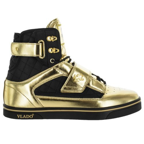 Vlado Footwear Mens Atlas God//Black Metallic High Top Sneakers Ref IG-1500-G2