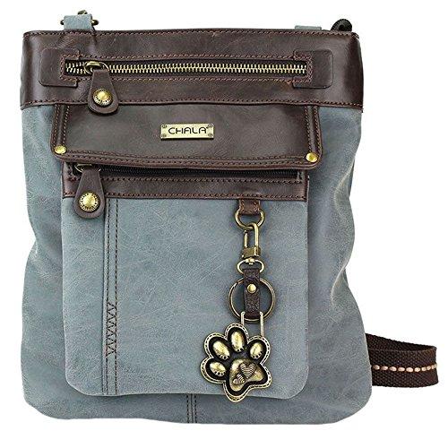 1 3 Gift Crossbody Paw Dog Gemini in Indigo Print Lovers Chala Handbag YUvnAFxv