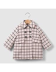 R Mini Baby Girls Checked Coat, 1 Month-3 Years