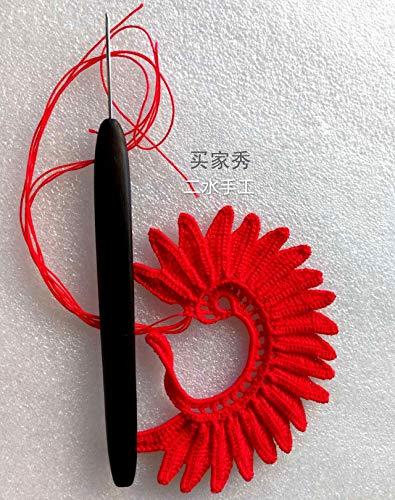 FidgetFidget 上海钩针刘长安黑檀红木手工 Handmade Crochet Hooks Stainless Steel Needle Wood Wooden Handle 22pcs Set by FidgetFidget (Image #4)