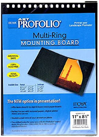 horizontal pack of 10 Itoya Multi-Ring Mounting Boards 14 in x 11 in