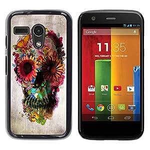 For Motorola Moto G1 / X1032 Case , Floral Deep Metal Spring Death Deep - Diseño Patrón Teléfono Caso Cubierta Case Bumper Duro Protección Case Cover Funda
