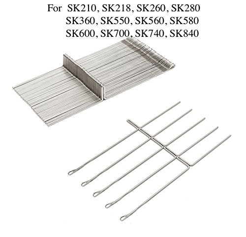 50pcs/set Knitting Machine Needle Steel Needles Set For Reed Singer Studio SK210 SK260 SK280 SK328 SK326 SK840 SK580 Knitting Machine Durable Fabric Sewing DIY Craft Tools