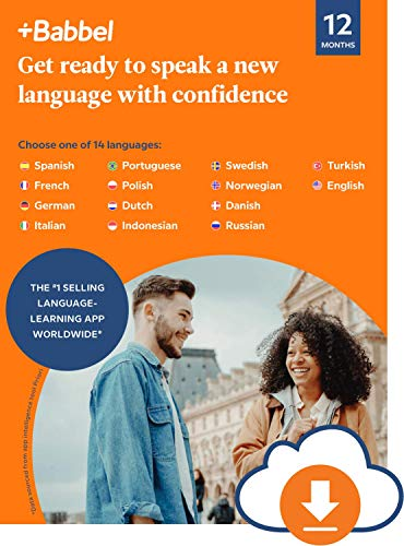 Price comparison product image Babbel: Learn a New Language - 12 Month Subscription for iOS,  Android,  Mac & PC [PC / Mac Online Code]