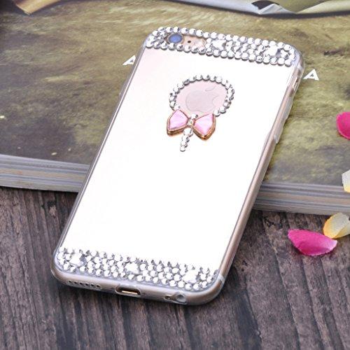 """Infinite U Jewellery Souple TPU Gel Bling Strass Miroir N?ud à Deux Boucles Case/Coque/Etui de Téléphone Mobile pour iPhone 6/6s 4.7"""" Femme"""