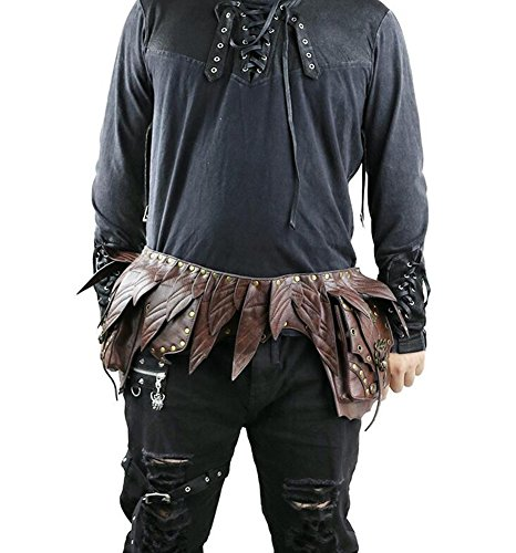 Lovezhou da donna Fashion Steampunk retro Cosplay marrone PU tasche