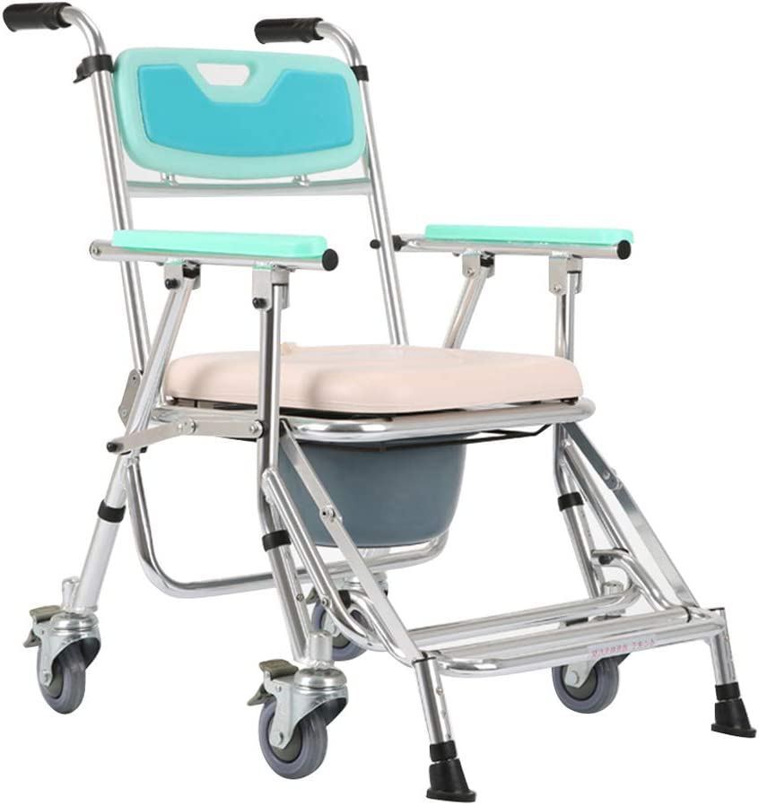 ZBYL Silla rodante médica Plegable Personal Movilidad Durable Ducha Impermeable Transporte accesible Silla de Ruedas Silla de Ruedas