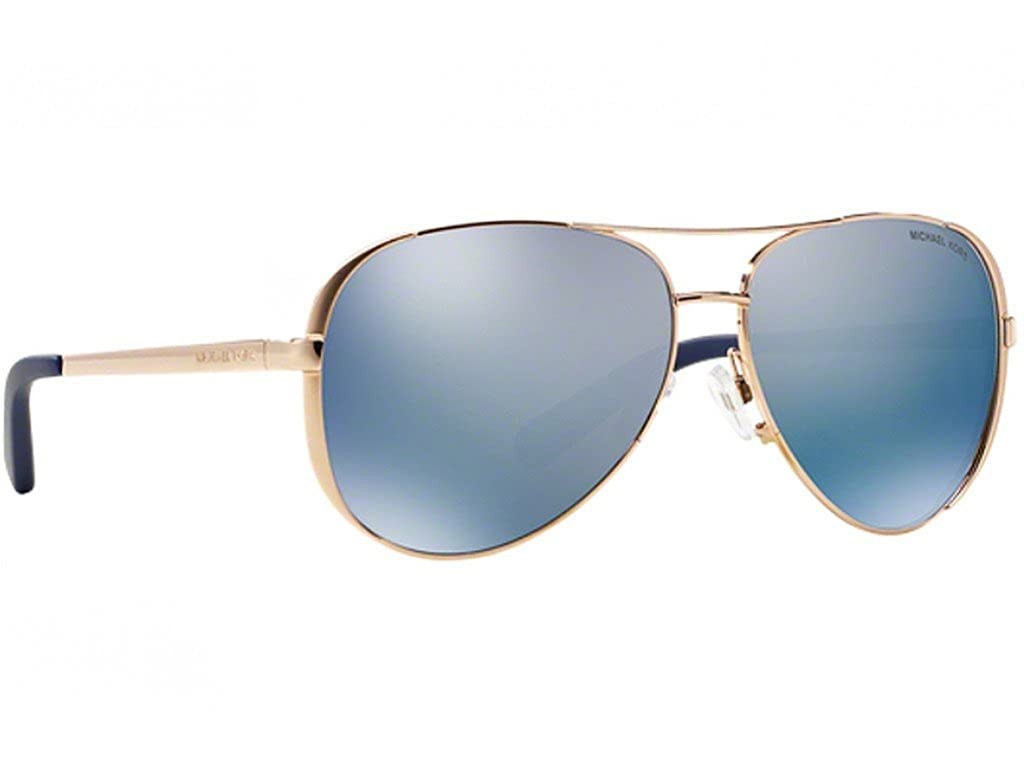 baada2e0f Amazon.com: Chelsea Rose Gold/Purple-Blue Sunglasses Polarized Mirror 59mm:  Clothing