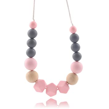 Mushroom Silicone Teething Beads DIY Baby Chew Necklace Jewelry Teether Making