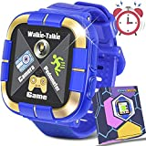 Smartwatch for Girls Boys,Kids Walkie Talkie Game Smart Watch with Camera Touch Screen Pedometer,Wrist Bracelet Kids Electronic Watches Birthday Christmas Holiday Toys Gifts (Blue)