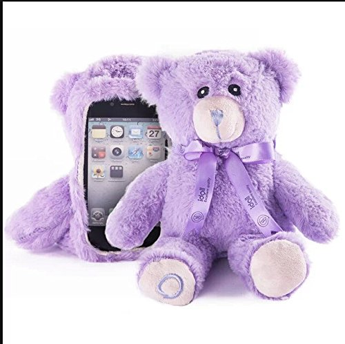 Aurora® Stylish Cute 3D Bear Doll Toy Plush Case Cover For Apple iPhone 6 4.7 inch iPhone 4 iPhone 4s Samsung Galaxy S3 SIII i9300 Samsung Galaxy S4 SIV i9500 Purple (iPhone 4 Case)