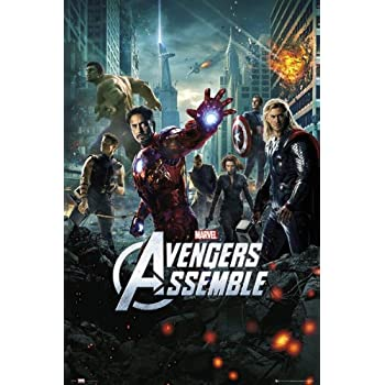 Avengers Assemble Movie Poster Film Photo Print Picture