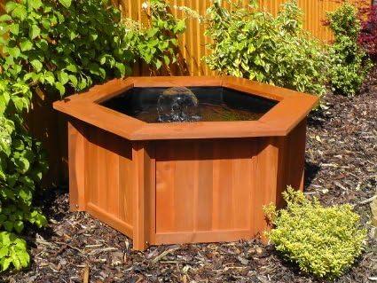 Pots and Ponds - Estanque para jardín (madera), diseño hexagonal: Amazon.es: Jardín