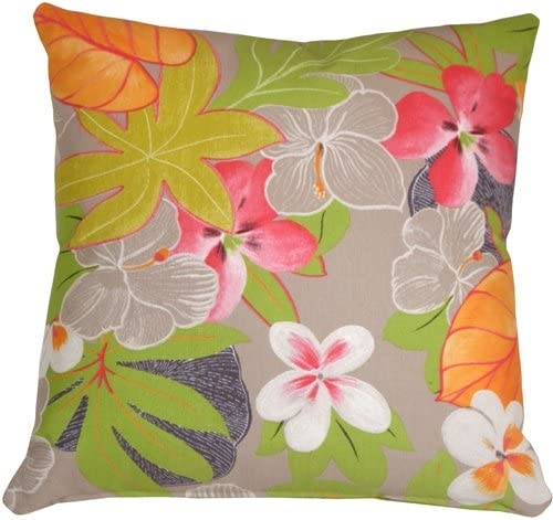 Pillow D COR Hawaii Garden 20×20 Floral Throw Pillow