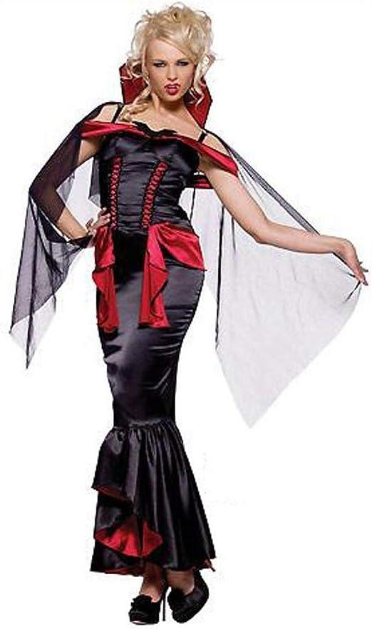 Yunfeng Halloween Bruja Disfraz para Mujer Vampiro de la Traje de ...
