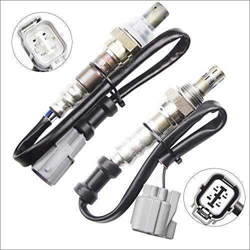 (2x Oxygen O2 02 Sensor 1 & 2 for 2002 2003 2004 Honda CR-V 2.4L Upstream + Downstream)