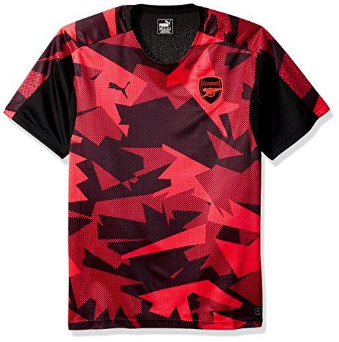 PUMA Men's Arsenal FC Stadium Jersey ECL, Black-Bright Plasma, Large (Arsenal Jersey Puma)