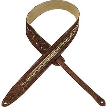 levys m1sd extra long diamond stud black 2 5 inch genuine leather guitar strap. Black Bedroom Furniture Sets. Home Design Ideas