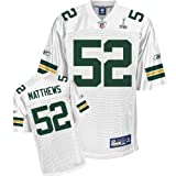 Reebok Green Bay Packers Clay Matthews Super Bowl XLV Replica White Jersey XX Large