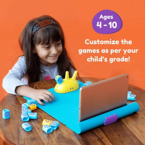 Shifu Plugo Count - Math Game with Stories & Puzzles - Ages 5-10 - STEM Toy | Augmented Reality Based Cool Math Games for Boys & Girls (App Based)