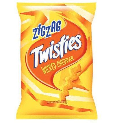 Twisties Zigzag Wicked Cheddar 110g Smiths