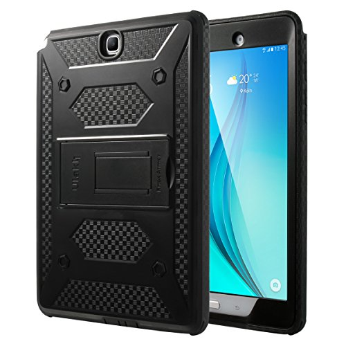 ULAK Samsung Galaxy Tab A 9.7 SM-T550 SM-P550 Case [KNOX ARMOR] Rugged Dual Layer Hybrid Protective Case Built with Kickstand for Samsung Galaxy Tab A 9.7 inch - (Black) (Samsung Galaxy Tab S Case Rugged)