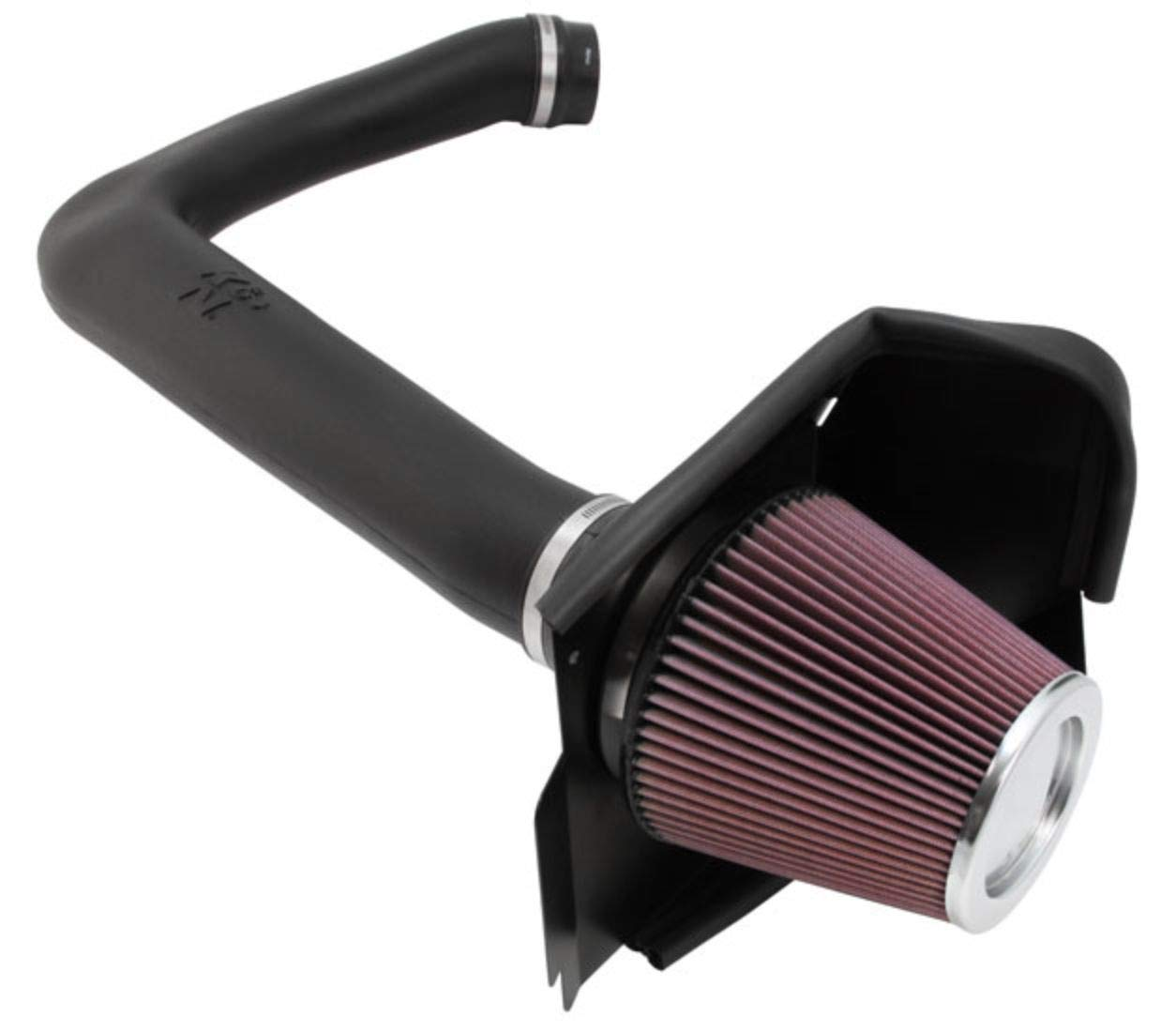 K&N Cold Air Intake Kit with Washable Air Filter:  2011-2019 Dodge/Chrysler (Challenger, Charger, 300) 3.6L V6 Black HDPE Tube with Red Oiled Filter, 63-1564 by K&N