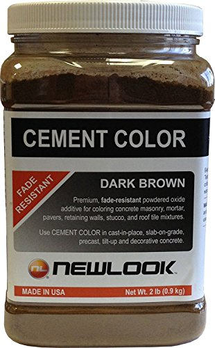 NewLook 2 lb. Dark Brown Fade Resistant Cement Color (Plaster Cement New)