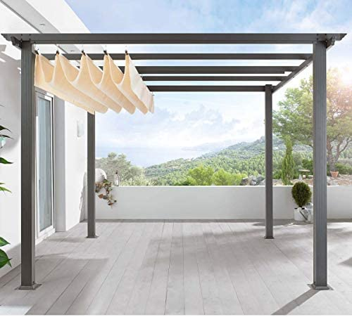 Pureday - Carpa Tipo pérgola para terraza, Estructura de Aluminio ...