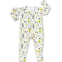 Pajammie Zipsuit Unisex Baby Bamboo and Organic Cotton Romper Footie with 2-way zip (Newborn - 24 months)