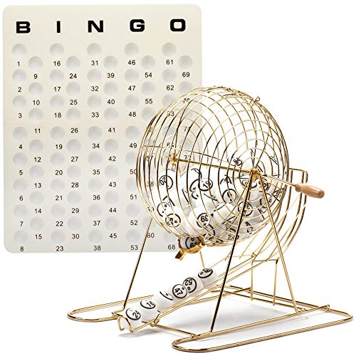 - GSE Games & Sports Expert Professional Bingo Game Set. Including Extra Large Brass Bingo Cage, 1.5-Inch Ping Pong Style Bingo Balls, Plastic Masterboard (Metal Base Cage)